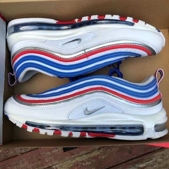 super popular b1d8f e92f6 Air max 97/ Blue, White, and Red/ Size 8.5 M